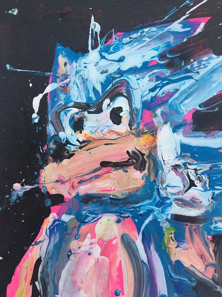 Sonic Hedgehog With Black Background Degreeart Com The Original Online Art Gallery