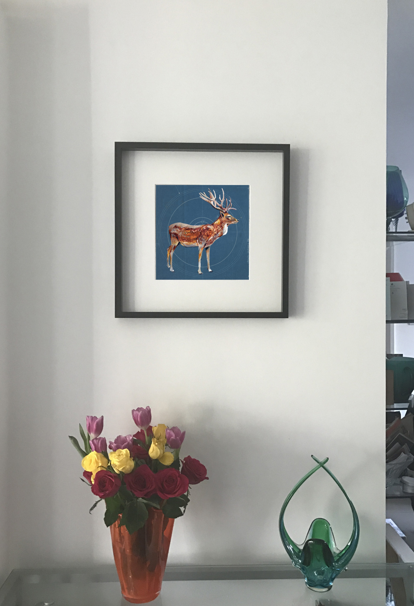 Stag on blueprint ltd edition print degreeart the original stag on blueprint ltd edition print malvernweather Choice Image